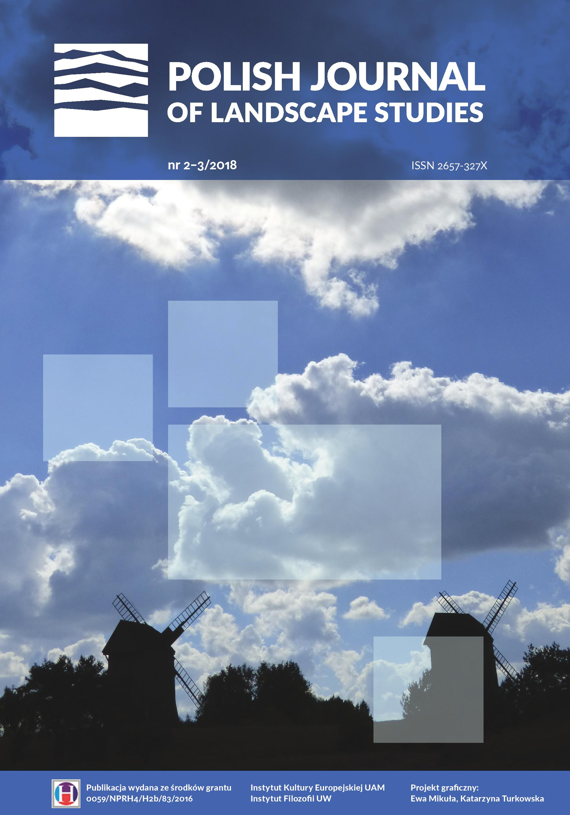 """Polish Journal of Landscape Studies"" 1(2-3), 2018"
